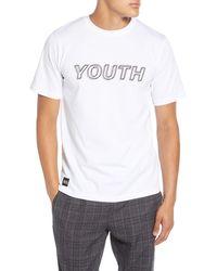 Native Youth Seismic Logo T-shirt - White