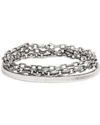 Title Of Work Sterling Silver Anchor Chain Cuff - Metallic