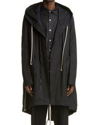 Rick Owens Men's Bauhaus Hooded Parka - Black