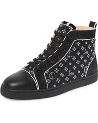 quality design d4a7d 7338f Christian Louboutin Leather Spikes Orlato Patent Glitter ...