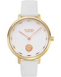 Versus La Villette Leather Strap Watch - Metallic