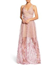 Dress the Population - Chelsea Lace A-line Gown - Lyst