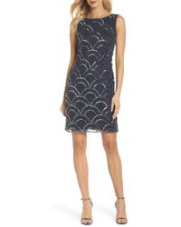 Pisarro Nights - Sequin & Embroidery Cocktail Dress - Lyst