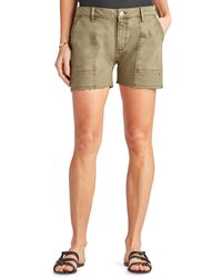 Sam Edelman The Cargo Cotton Blend Utility Shorts - Green