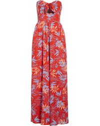 Lost + Wander Still On Vacay Strapless Jumpsuit - Red