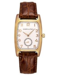 Hamilton - American Classic Boulton Leather Strap Watch - Lyst