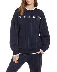 Ivy Park Ivy Park Baseball Pinstripe Sweatshirt - Blue