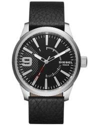 DIESEL | Diesel 'rasp' Leather Strap Watch | Lyst