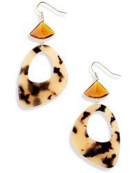Nakamol - Faceted Crystal Resin Earrings - Lyst
