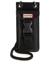 HUNTER - Original Rubberized Leather Phone Pouch - Lyst