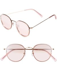 Vedi Vero - 52mm Round Sunglasses - Shiny Rose Gold - Lyst
