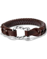 David Yurman - 'maritime' Leather Woven Shackle Bracelet - Lyst