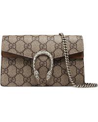 5e3cdd76cb6 Gucci - Super Mini Dionysus Gg Supreme Canvas   Suede Shoulder Bag - - Lyst