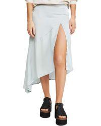 04c4ddf3e4 Free People - Lola Asymmetrical Slit Skirt - Lyst