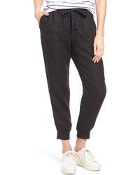 Caslon Caslon Linen Jogger Pants - Black