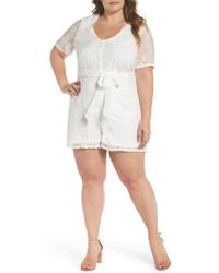 Glamorous - Embroidered Romper - Lyst