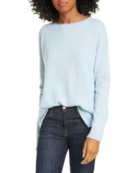 Nordstrom Long Sleeve Cashmere Tunic Sweater - Blue
