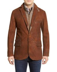 Flynt - Classic Fit Distressed Leather Hybrid Coat - Lyst