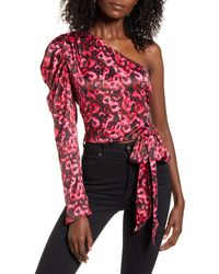 Leith One-shoulder Blouse - Red