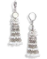 Marchesa - Tassel Linear Drop Earrings - Lyst