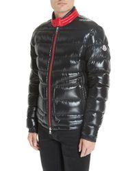 5537523482aa Lyst - Moncler Gangui Giubbotto Jacket Black in Metallic for Men