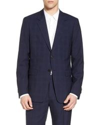 Theory   Chambers Trim Fit Plaid Wool Suit   Lyst