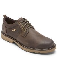 Dunham Jake Waterproof Plain Toe Oxford - Brown