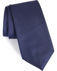 Calibrate Clara Solid Silk Tie - Blue