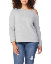 REBEL WILSON X ANGELS Cold Shoulder Sweatshirt - Gray