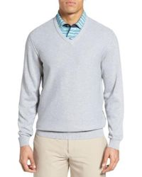 Bobby Jones | Pique Jersey V-neck Sweater | Lyst