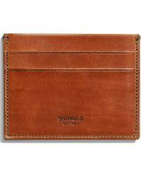 Shinola Harness Leather Card Case - Brown