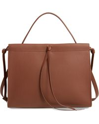 BOSS by Hugo Boss Katlin Small Leather Tote - Brown