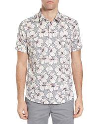 Ted Baker - Bigflo Floral Short Sleeve Sport Shirt - Lyst