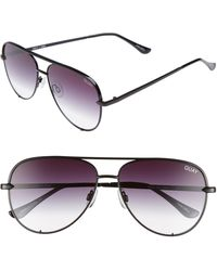 Quay High Key Mini 57mm Aviator Sunglasses - Black