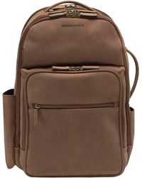 Johnston & Murphy Leather Backpack - Brown