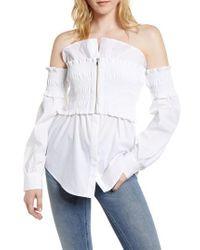 Trouvé - Smocked Corset Shirt - Lyst