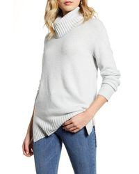 BP. Longline Turtleneck Sweater - Gray