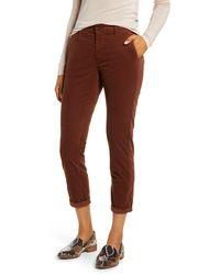 AG Jeans - Caden Crop Corduroy Pants - Lyst