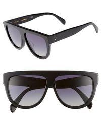 Céline - Special Fit 60mm Polarized Gradient Flat Top Sunglasses - - Lyst