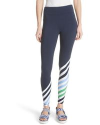 Tory Sport - Diagonal Stripe Leggings - Lyst