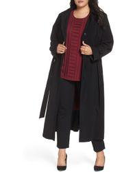 Gallery Long Nepage Raincoat With Detachable Hood & Liner - Black