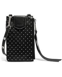 Aimee Kestenberg Getaway Rfid Leather Phone Crossbody Pouch - Black
