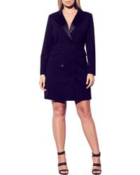 City Chic Tuxedo Dress - Black