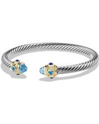 David Yurman Renaissance Bracelet With Semiprecious Stone & 14k Gold - Blue