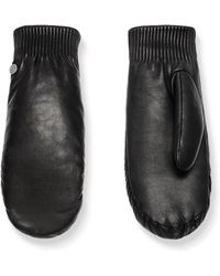 Canada Goose Rib Cuff Leather Mittens - Black