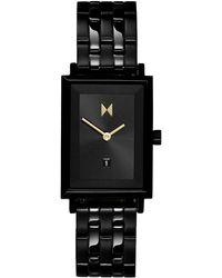 MVMT Caviar Black Stainless Steel Bracelet Watch 24mm