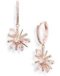 Jenny Packham - Mini Pave Crystal Drop Earrings - Lyst