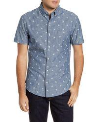 Bonobos - Slim Fit Short Sleeve Button-down Shirt - Lyst