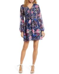 Sam Edelman Tropics Floral Print Dress - Purple