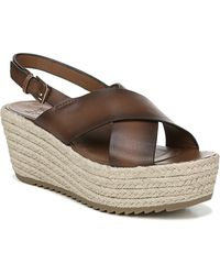 66eed6beacf Nine West Jorjapeach Espadrille Wedge Sandal (women) in Brown - Lyst
